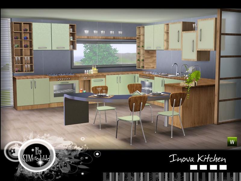 "Кухня ""Inova"" от SIMcredible! для Симс 3"