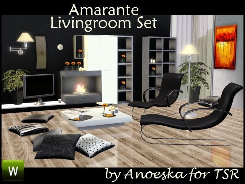 """Гостиная """"Амарант"""" от AnoeskaB для Sims 3"""