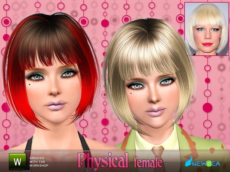 Короткая женская стрижка от NewSea для Sims 3