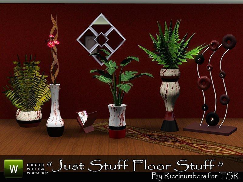 """Набор """"Просто вещи на полу"""" от TheNumbersWoman для Sims 3"""
