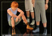 Замшевые мужские полуботинки от bukovka для Sims 3