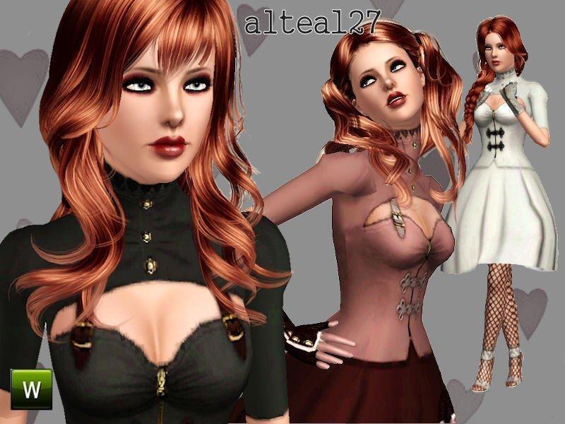 Ретро-платье в готическом стиле от altea127 для Sims 3