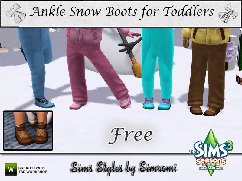 """Детские ботинки """"Let It Snow"""" от simromi для Sims 3"""