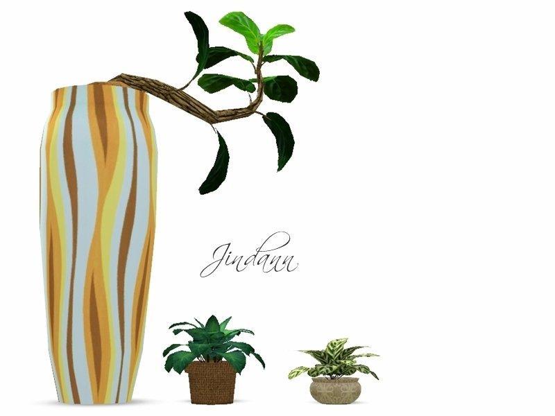 Набор из трех растений от Jindann от Sims 3