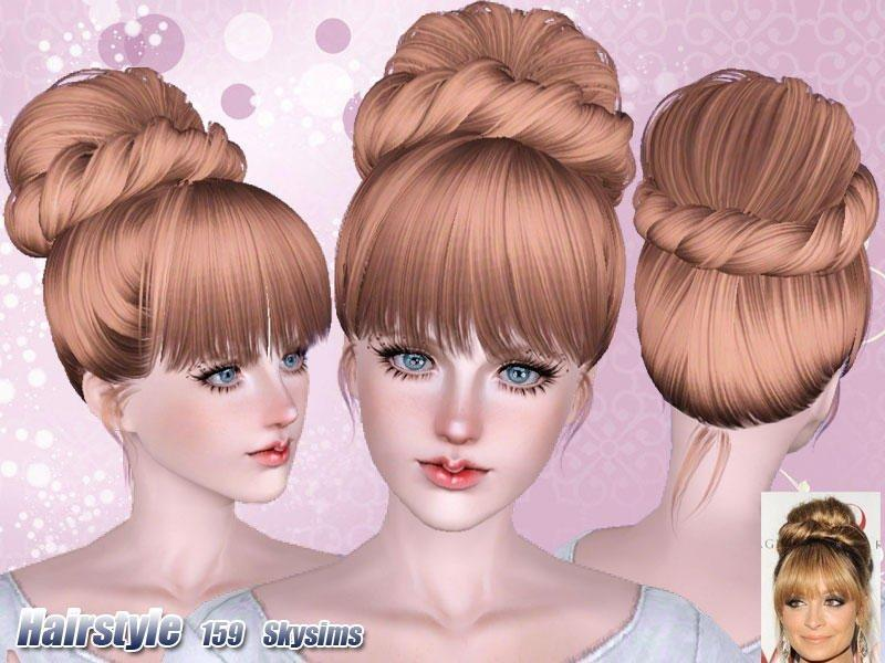 Высокая женская прическа для симов всех возрастов от Skysims для Sims 3