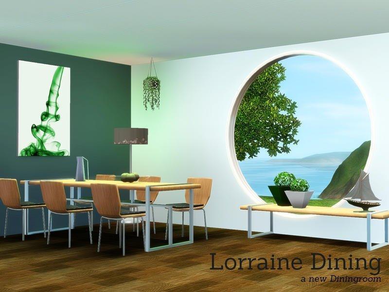 """Столовая """"Лорейн"""" от Angela для Sims 3"""
