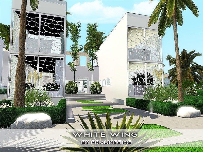 "Особняк ""Белые крылья"" от Pralinesims для Симс 3"