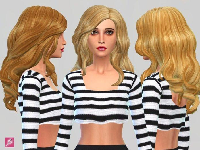 Золотистые перекраски волос от Alexandra_Sine для Sims 4