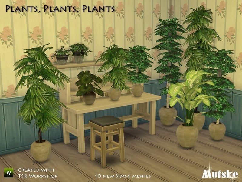 Набор комнатных растений от Mutske для Sims 4