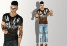 "Футболка ""Element"" с принтом от Summer_Sims для Sims 3"