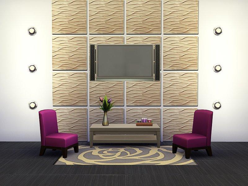 "Плитка для стен ""Волны"" от Rirannдля Sims 4"