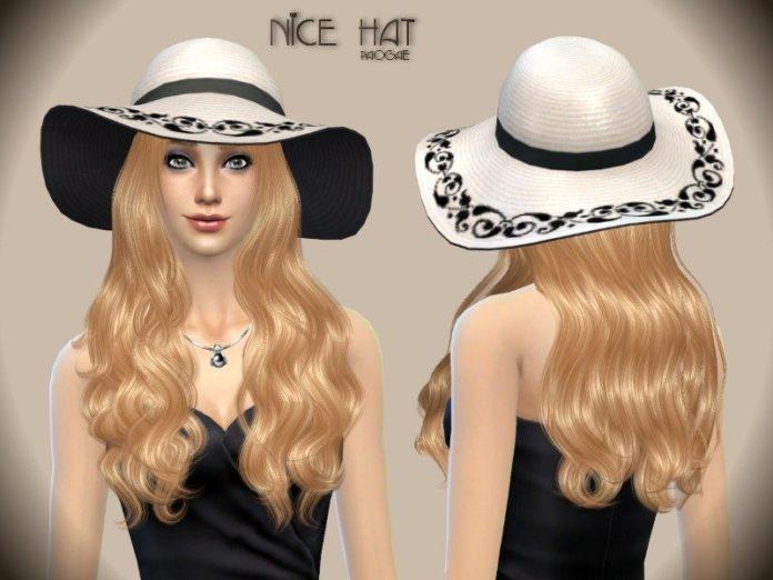 Элегантная шляпка от Paogae для Sims 4