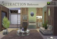 "Ванная комната ""Притяжение"" от jomsims для Sims 4"