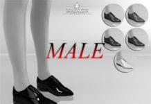 """Мужские лакированные туфли """"Орландо"""" от MJ95 для Sims 4"""