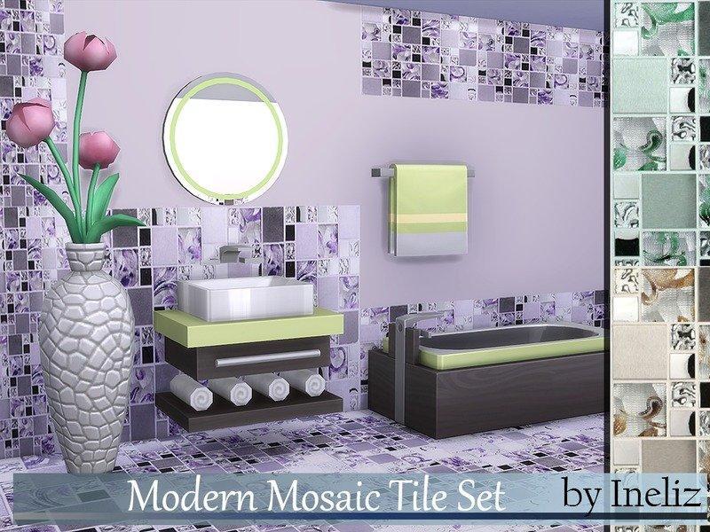 Набор мозаичной плитки от Ineliz для Sims 4