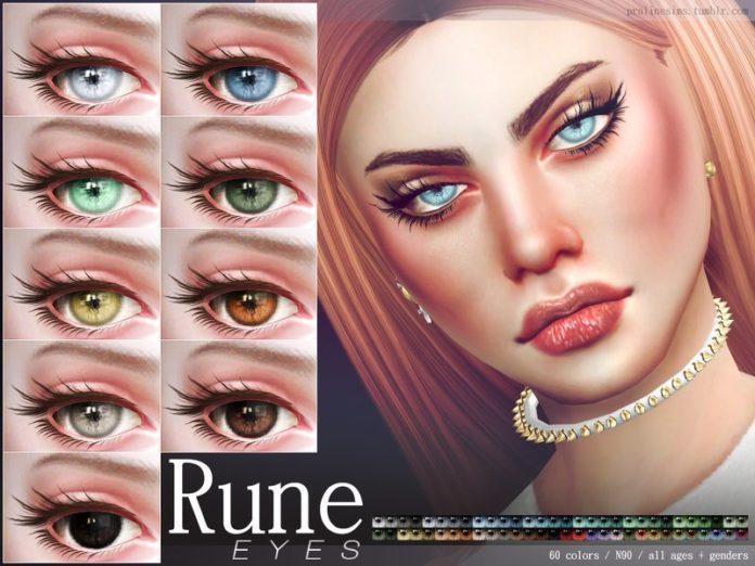 Глаза № 90 от Pralinesims для Sims 4