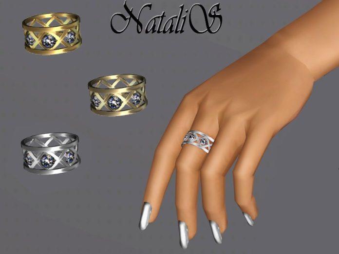 Скачать Кольцо с кристаллами от NataliS для Sims 3