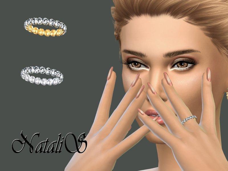 Кольцо с кристаллами от NataliS для Sims 4