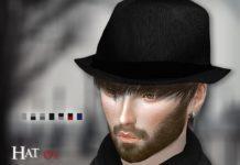 Шляпа-федора от S-Club для Sims 4