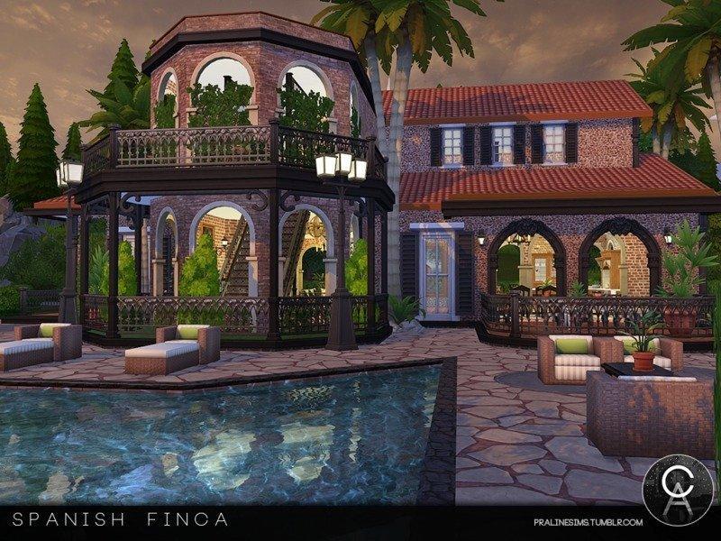 Испанская усадьба от Pralinesims для Sims 4