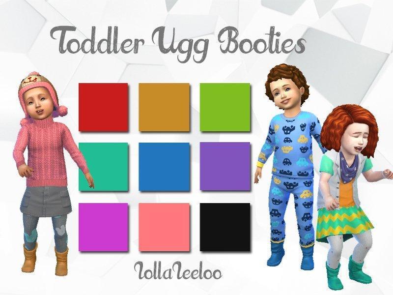 Угги для малышей от Lollaleeloo для Sims 4