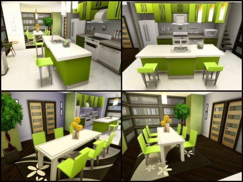 "Дом ""Greenish"" от sparky для Sims 4"