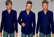 Мужская рубаха с узором от Margeh-75 для Sims 3