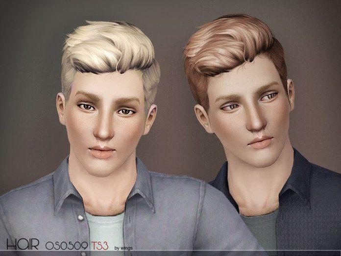Мужская прическа OS0509-M от wingssims для Sims 3
