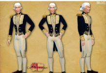 Униформа капитана королевского военно-морского флота XIX века от Bruxel для Sims 4