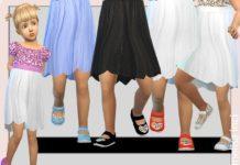 Туфли с блестками для девочек от melisa_inci для Sims 4