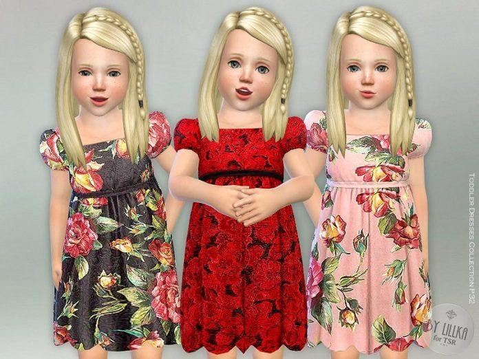 Платье для девочки от lillka для Sims 4