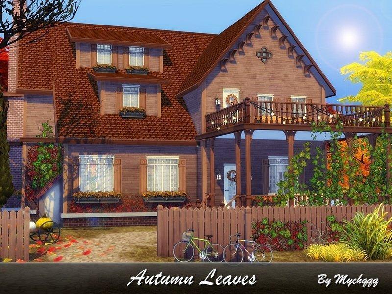 """Особняк """"Осенние листья"""" от MychQQQ для Sims 4"""