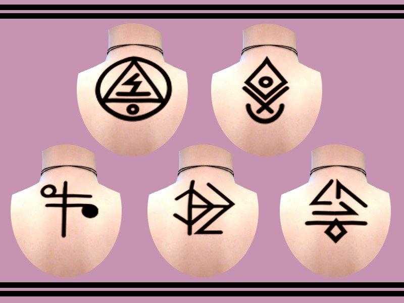 """Набор татуировок """"Voodoo"""" от SorakaBananaGirl для Sims 4"""