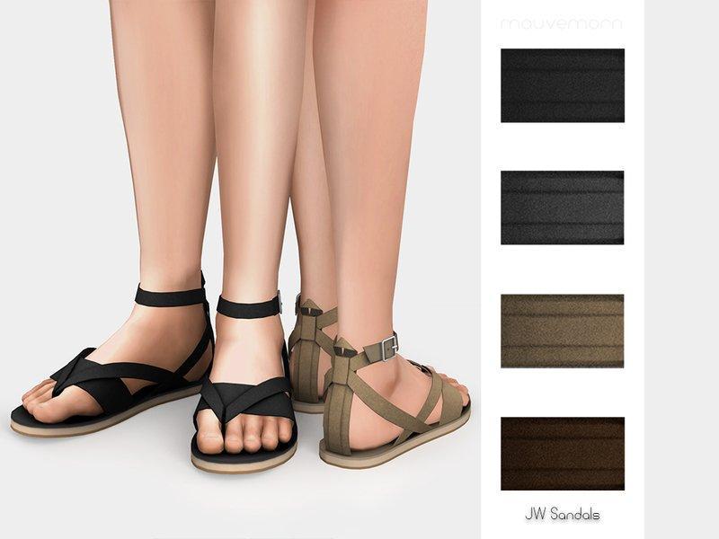 Мужские сандали от mauvemorn для Sims 4