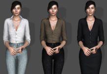 Сорочка с завернутыми рукавами от Bill Sims для Sims 3