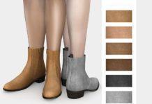 "Мужские ботинки ""Челси"" от mauvemorn для Sims 4"