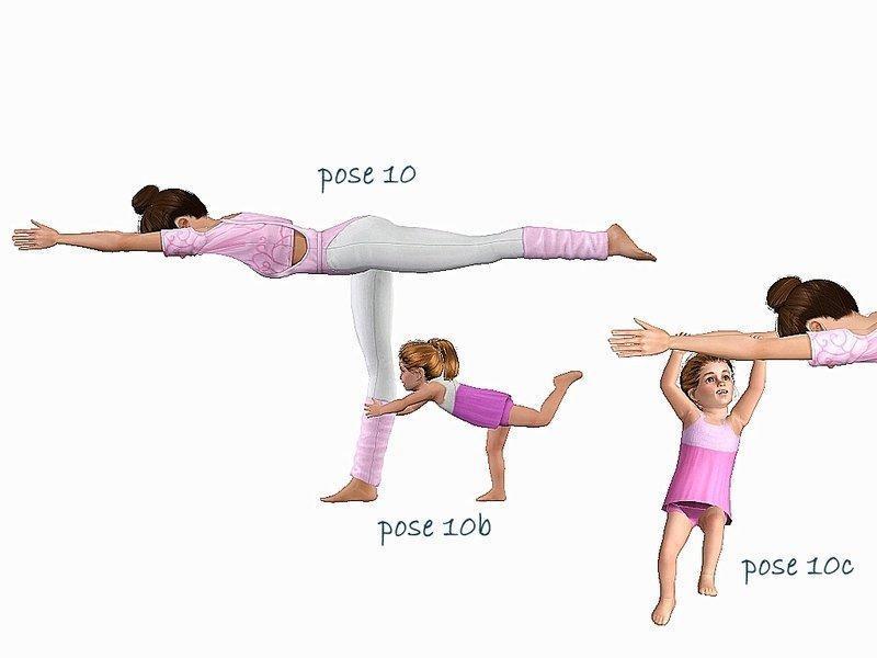 """Позы """"Мамочка и я занимаемся йогой"""" от jessesue для Sims 3"""