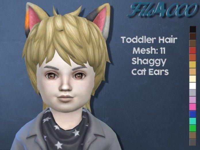 Прическа с кошачьими ушами для малышей от filo40002 для Sims 4