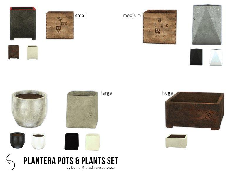 "Набор растений ""PLANTERA"" от k-omu2 для Sims 4"