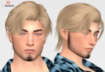 """Мужская прическа """"Wings"""" от remaron для Sims 4"""