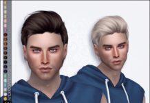Мужская прическа от Anto для Sims 4