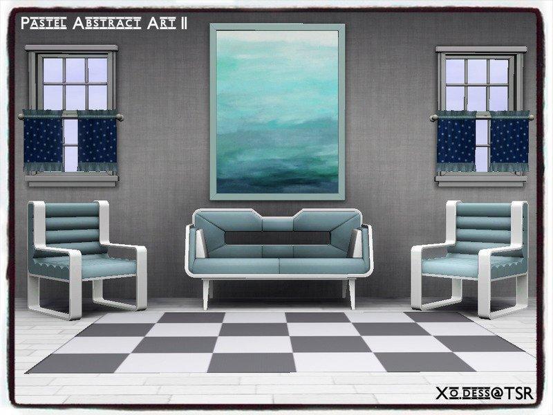 Набор абстрактных картин от Xo.dess для Sims 3