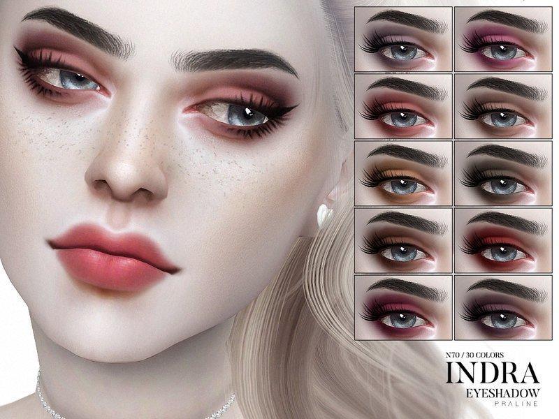 """Тени для век """"Indra"""" от Pralinesims для Sims 4"""