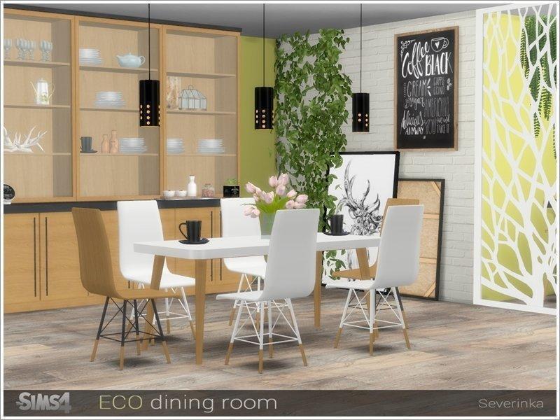 Столовая ECO от Severinka_ для Sims 4