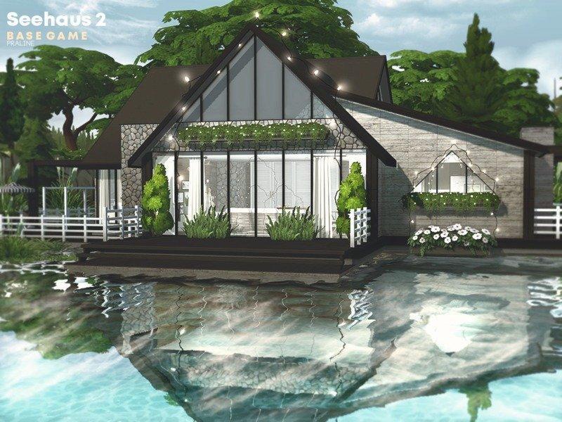 Дом у озера от Pralinesims для Sims 4