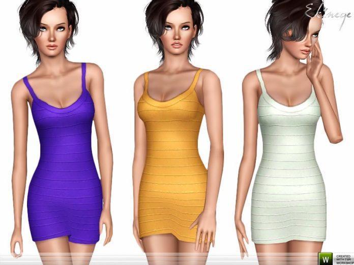 Короткое платье от ekinege для Sims 3