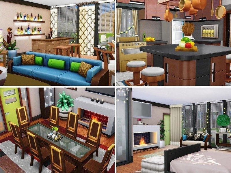 """Эко-дом """"Оазис"""" от MychQQQ для Sims 4"""