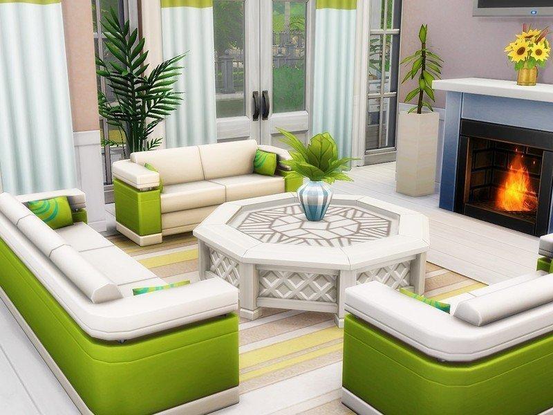 Дачный домик от MychQQQ для Sims 4