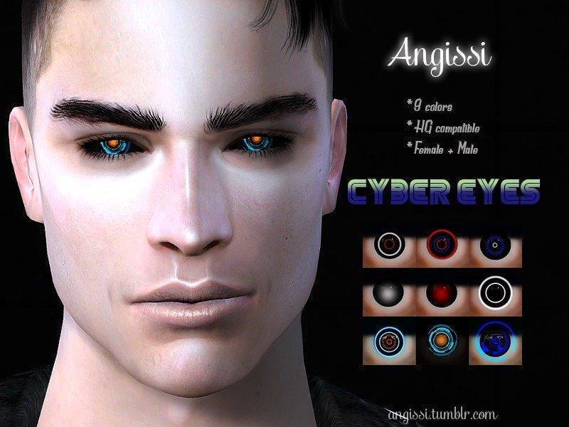 Кибер-глаза от ANGISSIдля Sims 4