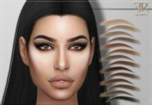 "Брови ""Jenna"" от FashionRoyaltySims для Sims 4"